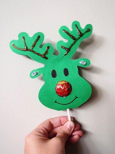 La nariz roja de Rudolph es un chupachups