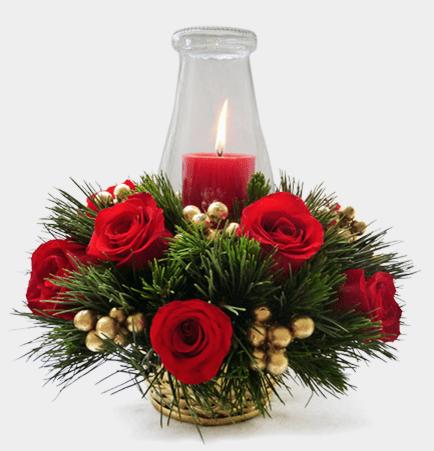 Cómo hacer un arreglo floral navideño paso a paso