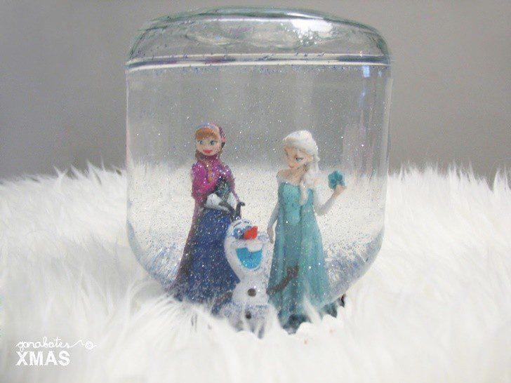 hacer bola de nieve casera frozen