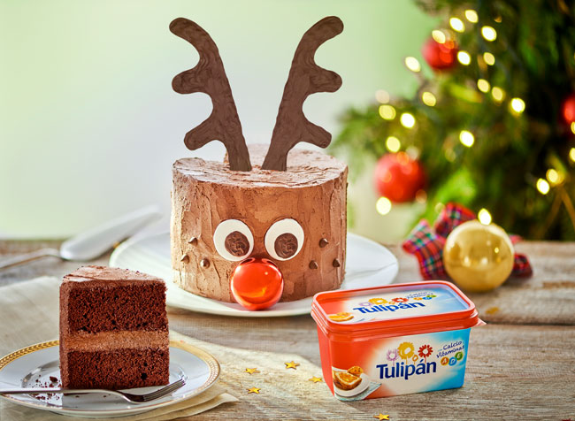 Pastel de Navidad de Rudolph