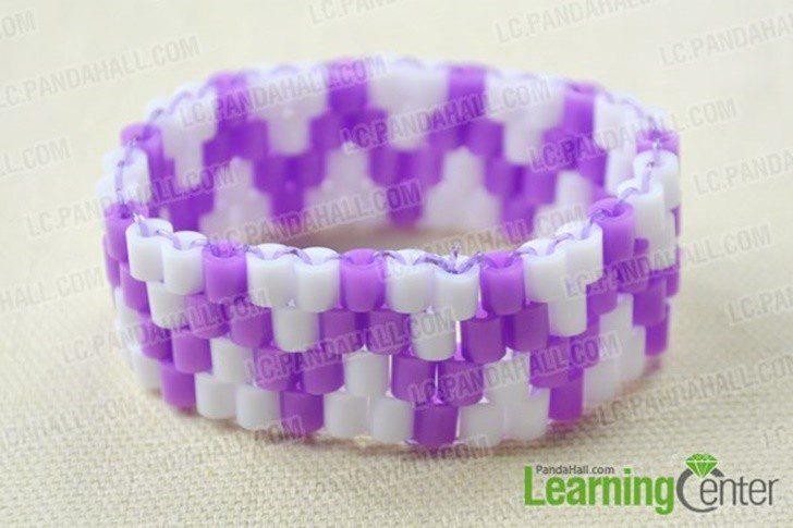 como hacer una pulsera con hamma beads