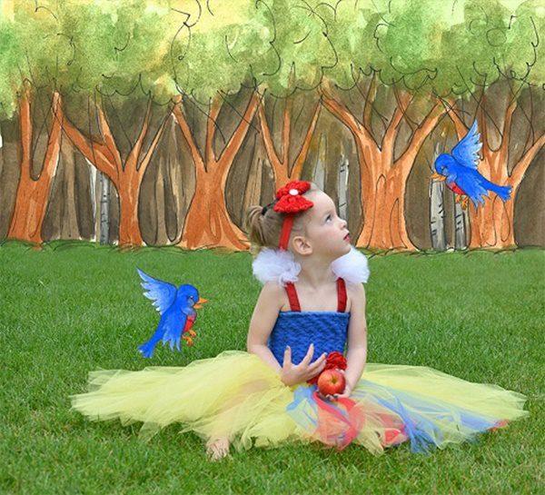 disfraz de blancanieves para niños