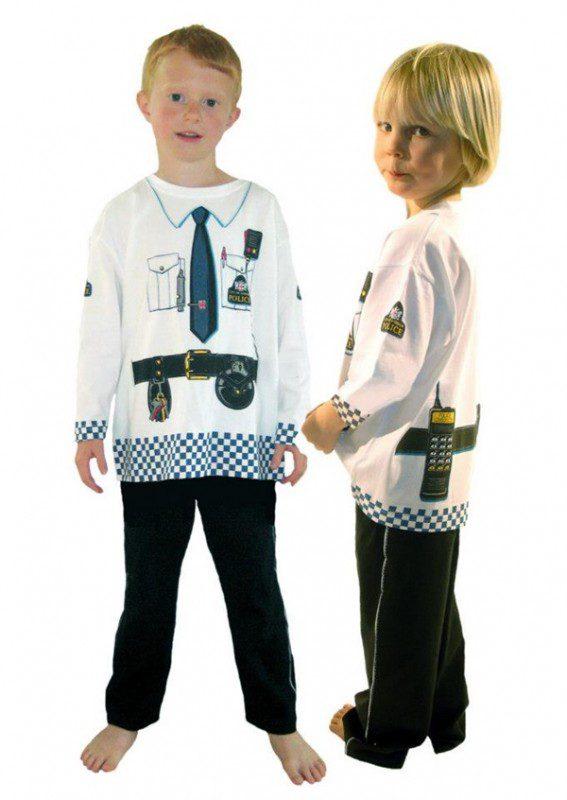 disfraz policia calentito niños