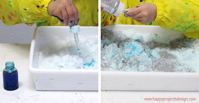 hacer nieve casera frozen