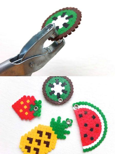 Manualidades con Hama Beads: Llaveros de frutas