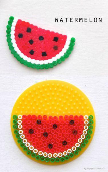 llaveros-de-frutas-hechos-a-mano-con-hamas-sandia