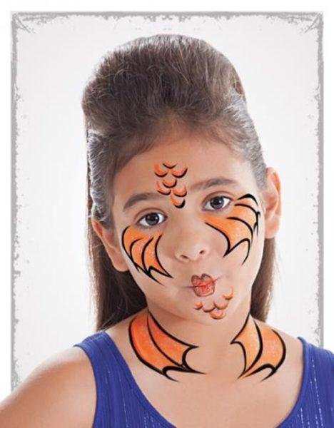 maquillaje de pez para niños