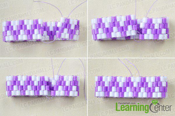 pulsera para niñas con hama beads conectar la pulsera para unirla