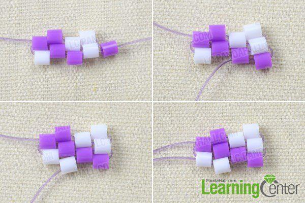pulsera para niñas con hama beads segundos pasos