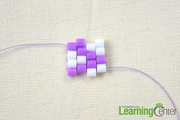 pulsera para niñas con hama beads terceros pasos