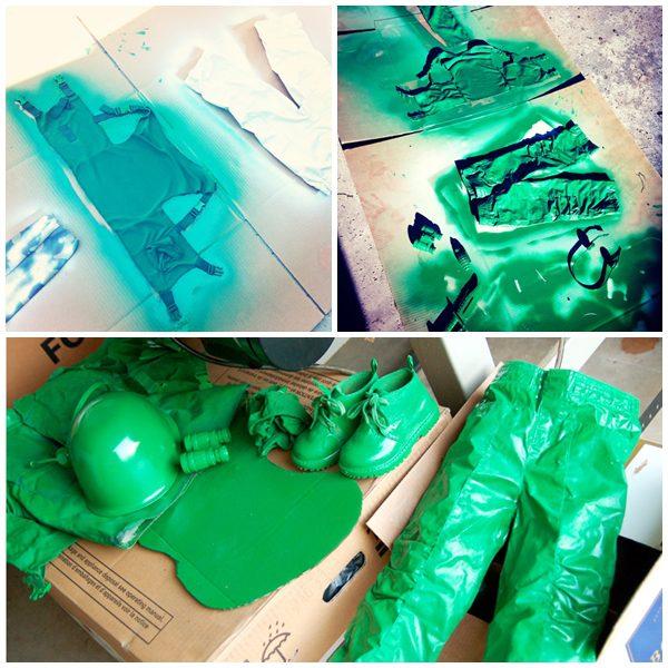 soldadito de plastico de toy story pintura prendas