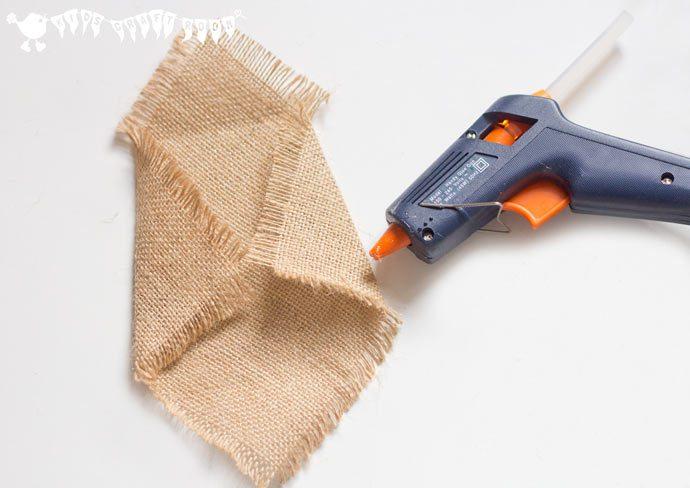 Búhos de arpillera sin costuras pistola de silicona
