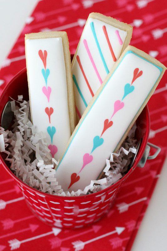 Galletas de San Valentin hechas a mano