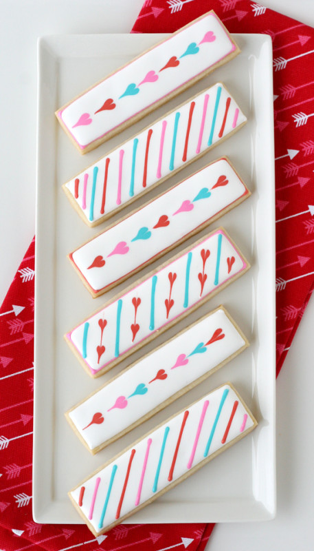 Galletas de San Valentin hechas a mano para enamorados