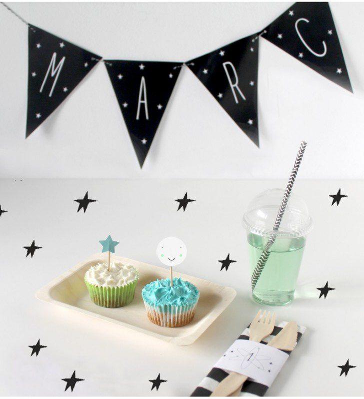Imprimibles para fiestas temáticas moon party