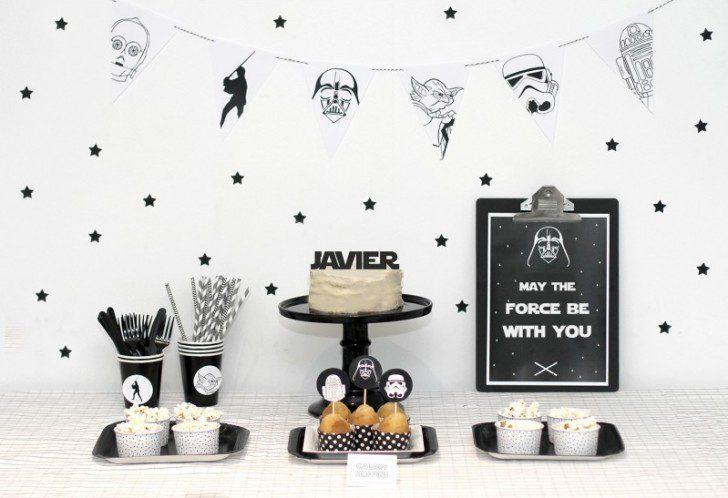 Imprimibles para fiestas temáticas star wars