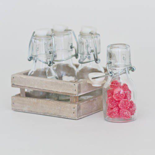 botellitas-de-vidrio-vintage-con-su-soporte-de-madera-4-unidades