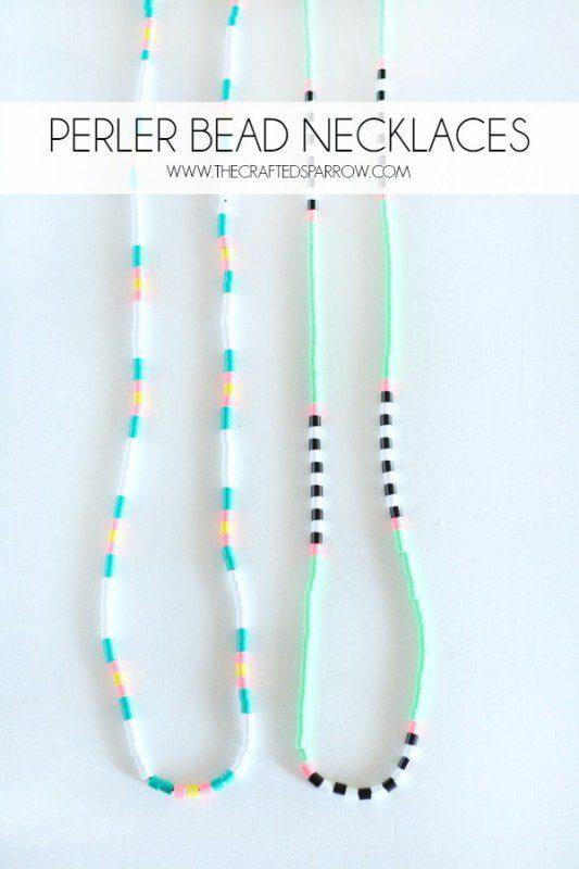 collares y pulseras a juego con hama beads hecho a mano