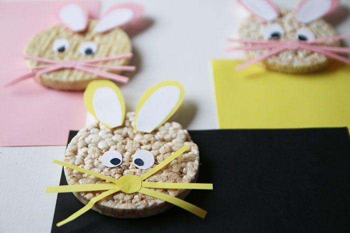Conejos de Pascua con Tortitas de Arroz