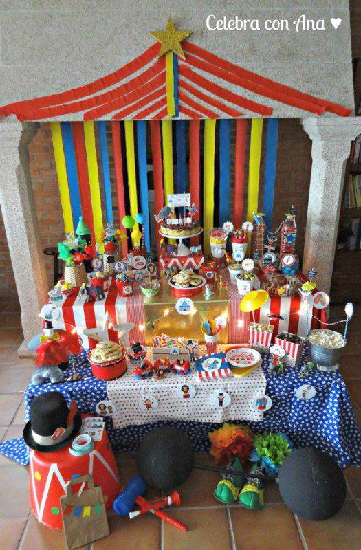 fiesta infantil ideas circo