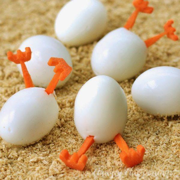 forma divertida de preparar huevos duros