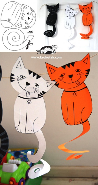 hacer un gato con papel