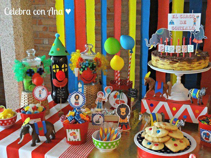 ideas mesa dulce circo