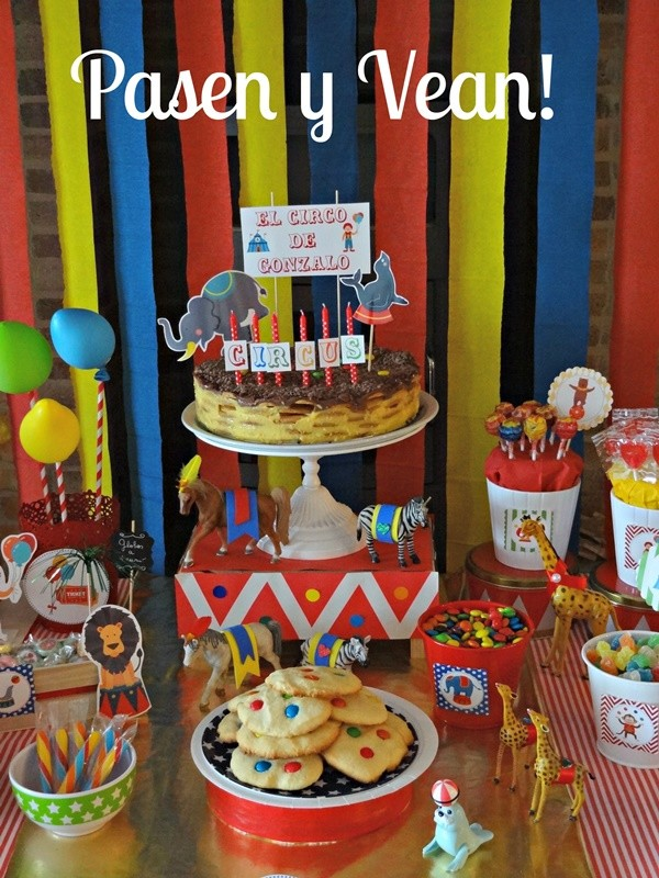 ideas para fiesta infantil de circo