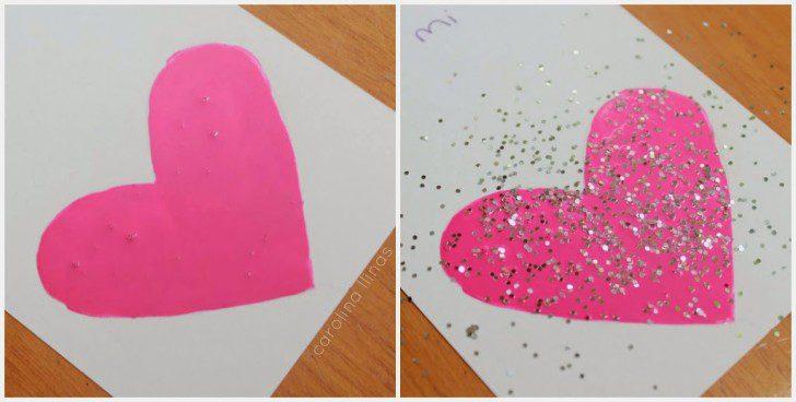 instrucciones hacer una tarjeta de rasca y gana san valentin