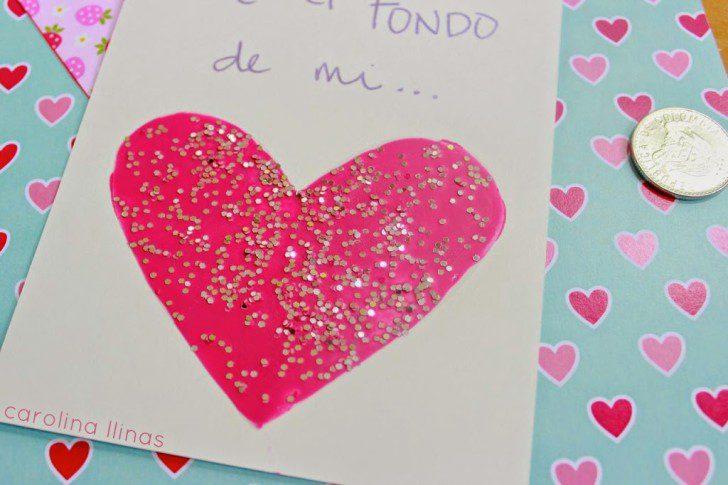 instrucciones para hacer una tarjeta de rasca gana san valentin infantil