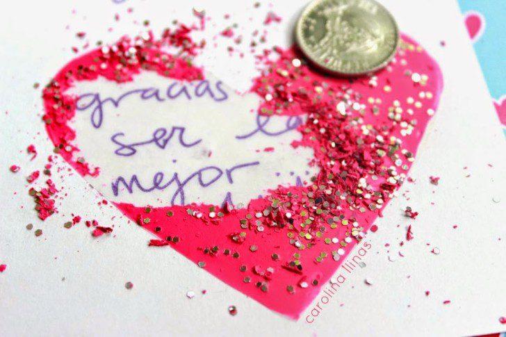 instrucciones para hacer una tarjeta de rasca y gana san valentin corazon