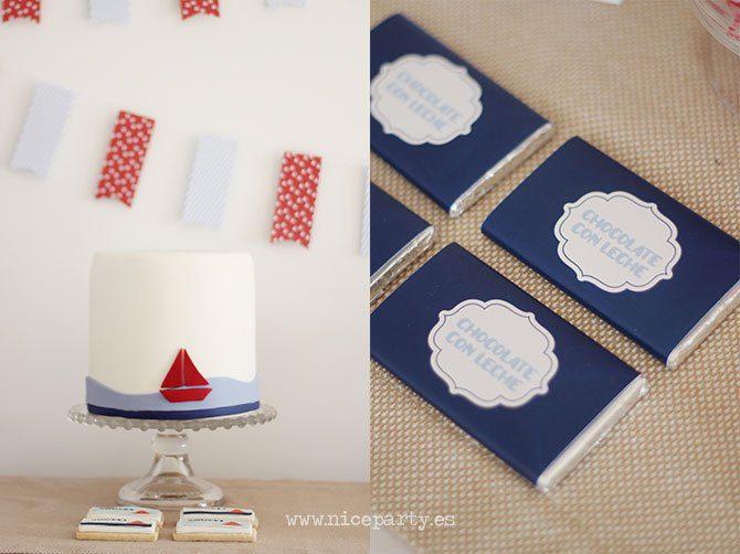 mesa dulce con motivo de marinero