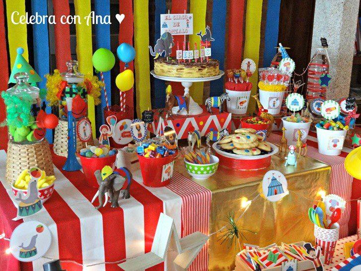 mesa dulce fiesta circo