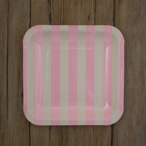 platos-cuadrados-blancos-con-rayas-rosa-claro-12-unidades