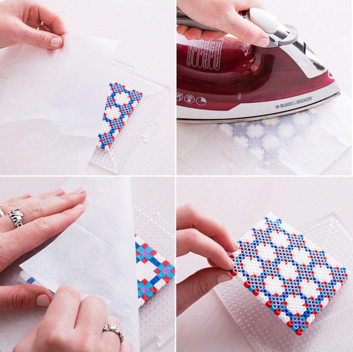 posavasos con hama beads para hacer a mano