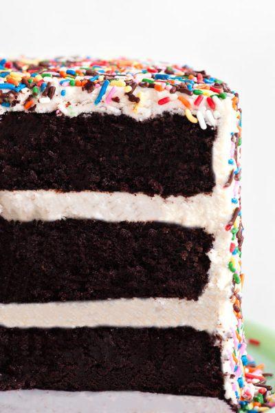 Receta Tarta de Chocolate con Fideos de Colores