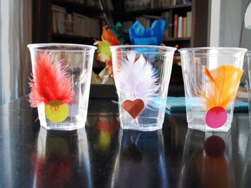 vasos decorados para fiesta temática de indios