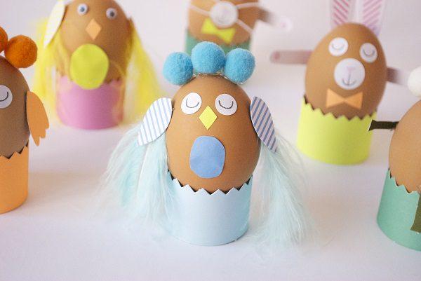 8 divertidas ideas para decorar los huevos de Pascua pintura infantil