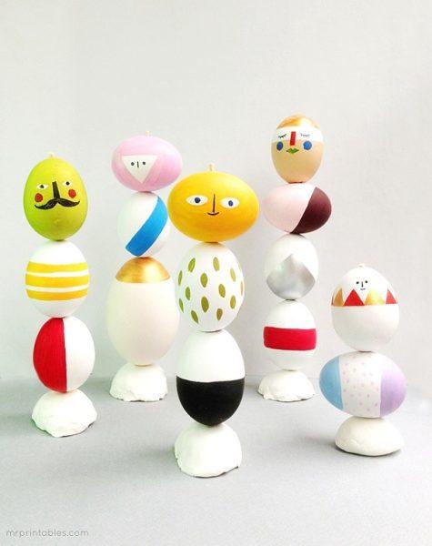 8 divertidas ideas para decorar los huevos de Pascua pintura