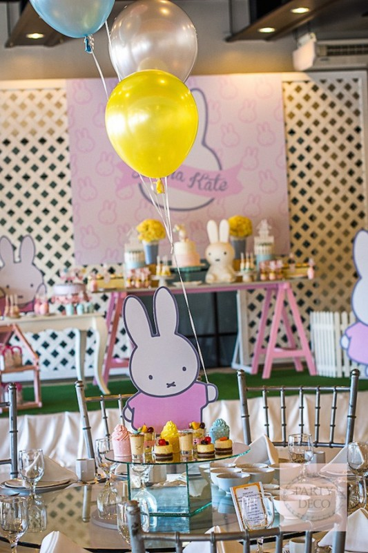 Fiesta temática de Miffy la conejita para niños
