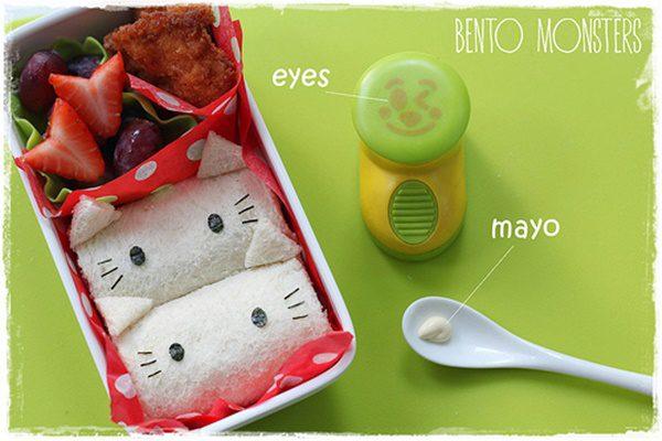Rollo-de-sándwich-de-Hello-Kitty-decoracion