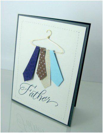 Tarjetas originales para el Día del Padre corbata