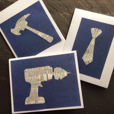 Tarjetas originales para el Día del Padre herramientas