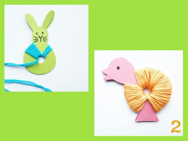 adorables pompones de animales para decorar pascua