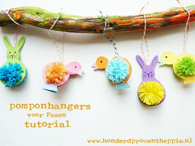 Adorables pompones para decorar por Pascua