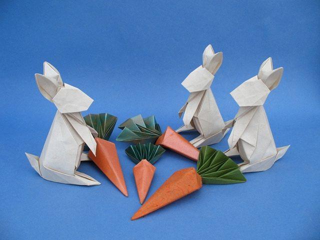 animales con papel origami niños convencion de conejitos