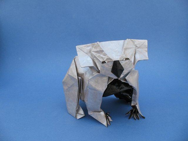 animales con papel origami niños koala