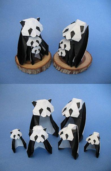 animales-con-papel-origami-niños-panda