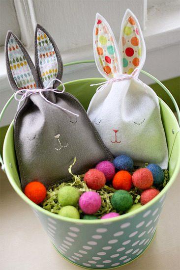 Conejito de Pascua para Guardar Dulces
