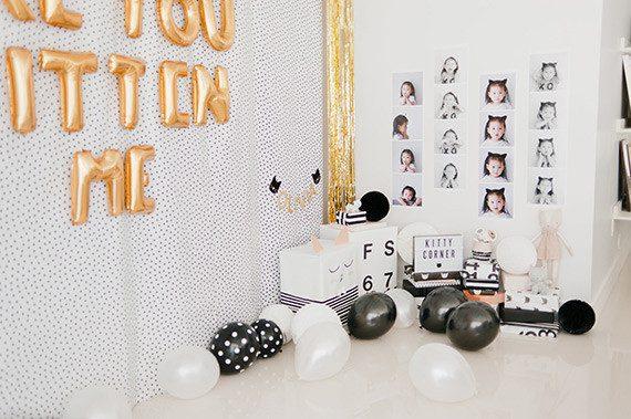fiesta de cumpleaños infantil de gatitos decoracion